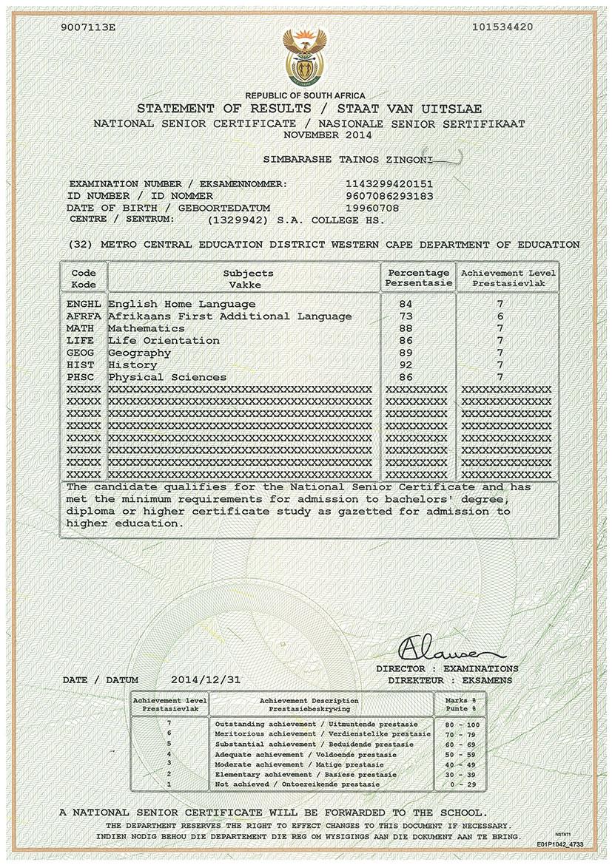 resume of simba zingoni